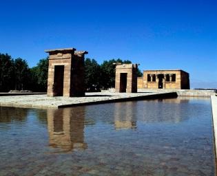 MADRID TEMPLO DE DEBOD OBRA EGIPCIA DEL SIGLO I AC